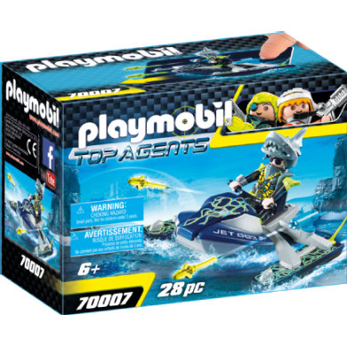 Playmobil  70007 Spy Team Jet Ski Shark