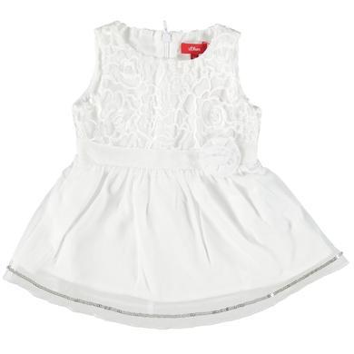 s.Oliver Girls Kleid white weiß Gr.62 Mädchen