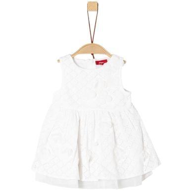 s.Oliver Girls Kleid white Kurzarm weiß Gr.80 Mädchen