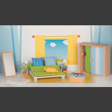 goki  Muebles para casa de muñecas Dormitorio - natura