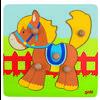 goki Puzzel Paard 5 delen