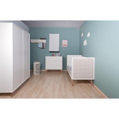 Babyzimmer - CHILDHOME Kinderzimmer Retro Rio weiß 70 x 140 cm schmal  - Onlineshop Babymarkt
