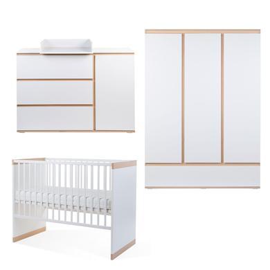 Babyzimmer - CHILDHOME Kinderzimmer Palma 60 x 120 cm 3 türig weiß  - Onlineshop Babymarkt