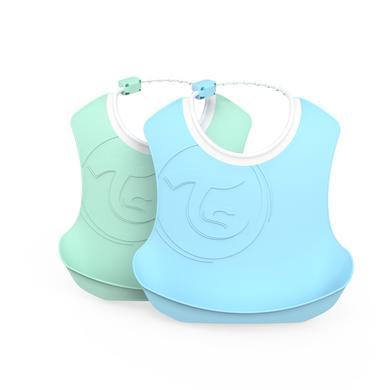 TWISTSHAKE Kinderlätzchen 2er-Pack 4+ Monate pastel blau / grün