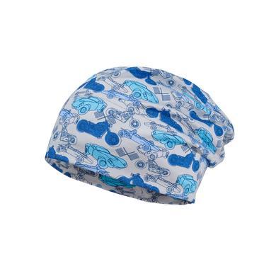 Miniboyaccessoires - maximo Boys Beanie Fahrzeuge silber–cerulean – bunt – Gr.Kindermode (2 – 6 Jahre) – Jungen - Onlineshop Babymarkt