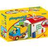 PLAYMOBIL® 1 2 3 Vrachtwagen met sorteergarage 70184