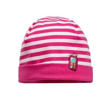 maximo Girls Mini čepice růžovo-bílá