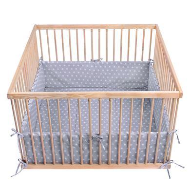 Laufgitter - LULANDO Laufgittereinlage Sternchen grau 100 x 100 cm  - Onlineshop Babymarkt