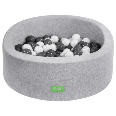 LULANDO dětský bazén s kuličkami šedý 90 cm - šedá