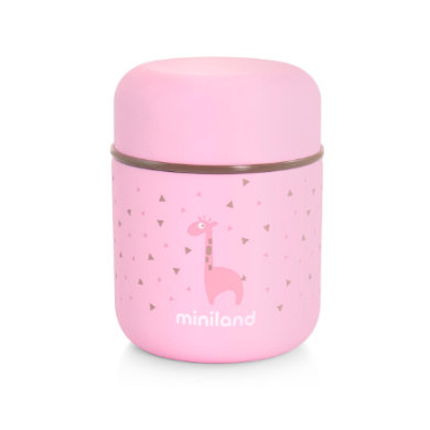 miniland silky food thermos mini termoizolaní nádoby pink 280ml