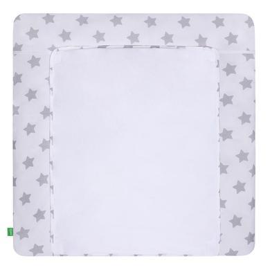 Wickelmöbel und Zubehör - LULANDO Wickelauflage mit 2 Bezügen Sterne weiß 76 x 76 cm  - Onlineshop Babymarkt