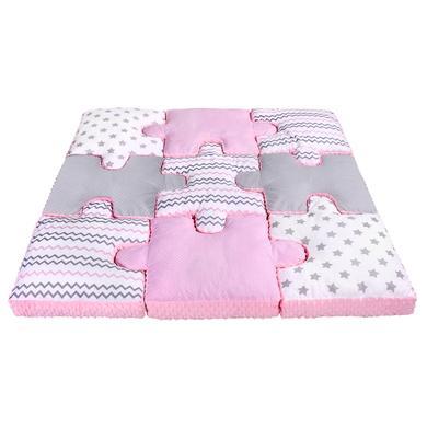 LULANDO sada polštářů puzzle 9ks, růžová 145x145 cm - růžová/pink