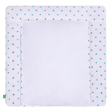 LULANDO Skötbädd med 2 överdrag stjärnor grå-blå 75 x 85 cm