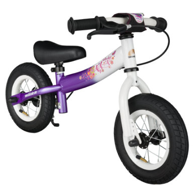 bikestar Sicherheits Kinderlaufrad 10, Candy Lila Diamant Weiß bunt