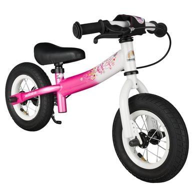 bikestar Sicherheits Kinderlaufrad 10, Flamingo Pink Diamant Weiß bunt