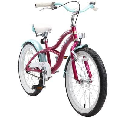 bikestar Premium Sicherheits Kinderfahrrad 20 Cruiser Violett lila