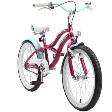 Kinderfahrrad - bikestar Premium Sicherheits Kinderfahrrad 20 Cruiser Violett - Onlineshop