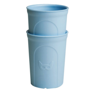 Herobility Nápojové sklo Eco Toddler Glass 2 x 140 ml blue