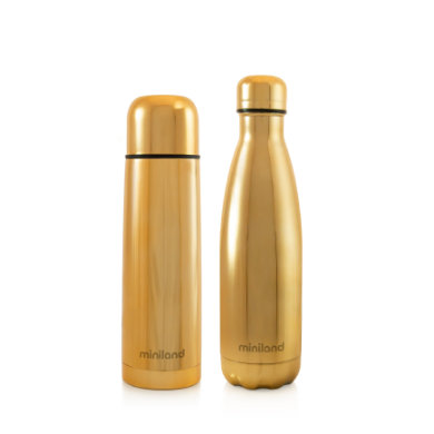 miniland myBaby  me deluxe Thermos bottle gold 500ml