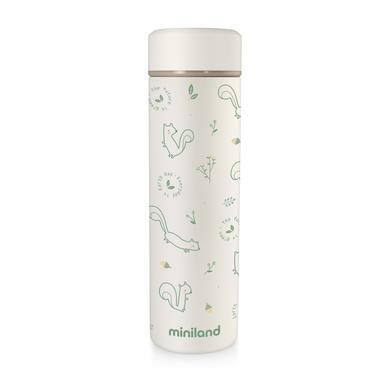 miniland přírodní termoska Termoska béžová / zelená 450 ml