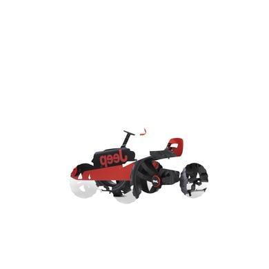 BERG Kart à pédales enfant jeep Buzzy Rubicon noir/rouge