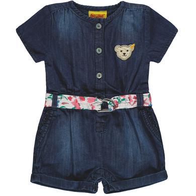 Minigirlhosen - Steiff Girls Jumpsuit kurz, light blue denim - Onlineshop Babymarkt