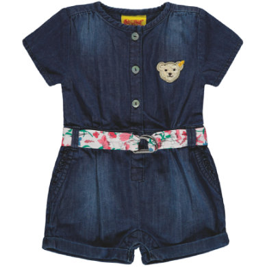 Steiff Girls Jumpsuit kurz, light blue denim blau Gr.92 Mädchen