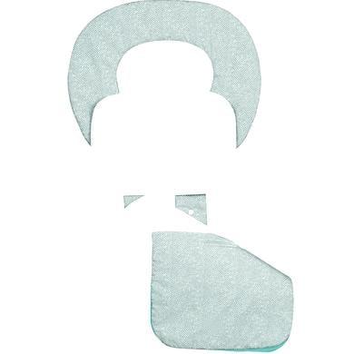 odenwälder ergonomická letní podložka do kočárku Babycool, New Woven dark mint - modrá
