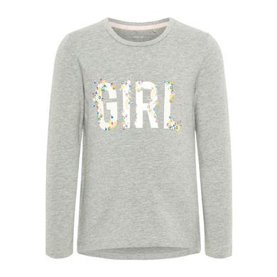 Minigirloberteile - name it Girls Langarmshirt Debitte Grey Melange - Onlineshop Babymarkt