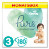 Pampers Pure Protection Maat 3 Midi 180 Luiers 6 - 10 kg Halvemaandbox