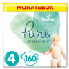 Pampers Couches Pure Protection T.4 pack mensuel Maxi 9-14 kg 160 pcs