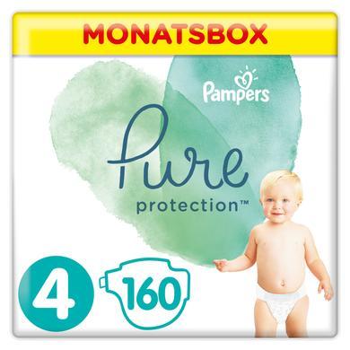 Pampers Pure Protection Plenky, velikost 4, 9-14 kg, měsíční balení (1 x 160 plenek)