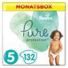 Pampers Vaipat Pure Protection koko 5 Maxi, 132 kpl, 11+ kg