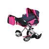 knorr® toys kočárek pro panenky Ruby - jednorožec Uma, modrý