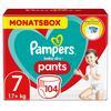 Pampers Baby Dry Pañal pantalón Talla 7 Extra Largo 104 Unidades 17+ kg Caja mensual