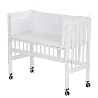 Alvi ® přístavná postýlka k posteli Boxspring bílá kompletní sada 577-0