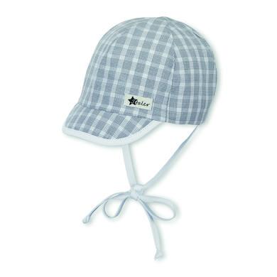 Sterntaler čepice s kšiltem kouřově šedá