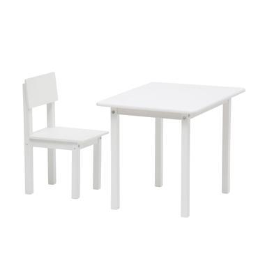Polini dětský stůl Simple se židličkou 105 white
