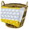Ullenboom vauvan viltti &   pehmoinen viltti 100X140 cm norsu keltainen