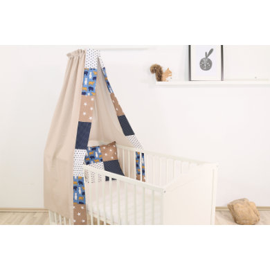 Kindertextilien - Ullenboom Baby Betthimmel Baldachin 135x200 cm Sand Bär bunt Gr.135x200 cm  - Onlineshop Babymarkt