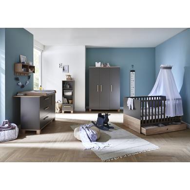 Babyzimmer - arthur berndt Kinderzimmer Cloe 3 türig grau Gr.70x140 cm  - Onlineshop Babymarkt