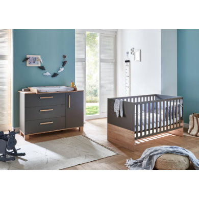 Babyzimmer - arthur berndt Sparset Cloe 2 teilig grau Gr.70x140 cm  - Onlineshop Babymarkt