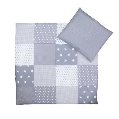 Baby Bettwasche Set Graue Sterne 80 X Cm 35 40
