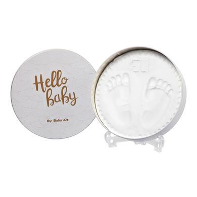 Baby Art  Gipsabdruck Set Dose - Magic Box, rund, shiny vibes - weiß