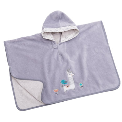 Be Bes Collection Poncho s Hood Lama šedou
