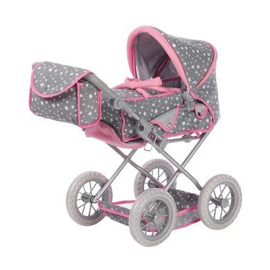knorr® toys Kočárek pro panenky Ruby - Star grey