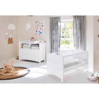 Babyzimmer - Pinolino Sparset Florentina extrabreit 2 teilig weiß  - Onlineshop Babymarkt