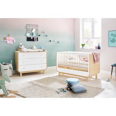 Babyzimmer - Pinolino Sparset Round breit 2 teilig weiß  - Onlineshop Babymarkt