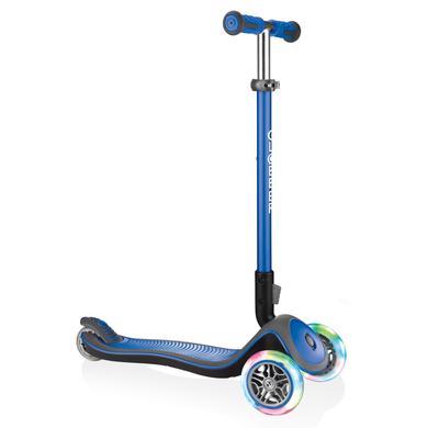 Roller - Globber Scooter Elite Deluxe mit Leuchtrollen, navy blau - Onlineshop