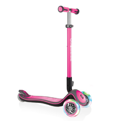 Roller - GLOBBER Scooter ELITE DELUXE LIGHTS deep pink, mit Leuchtrollen - Onlineshop